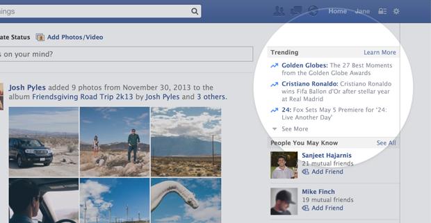 Tendances trending Facebook