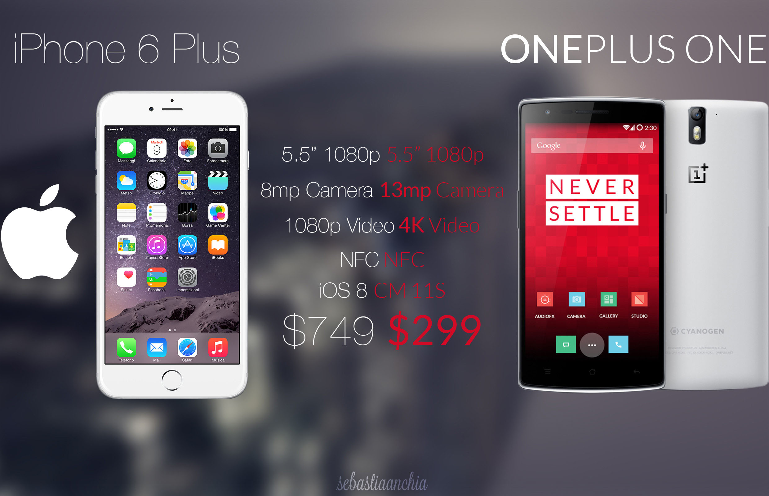 smartphone chinois one plus one