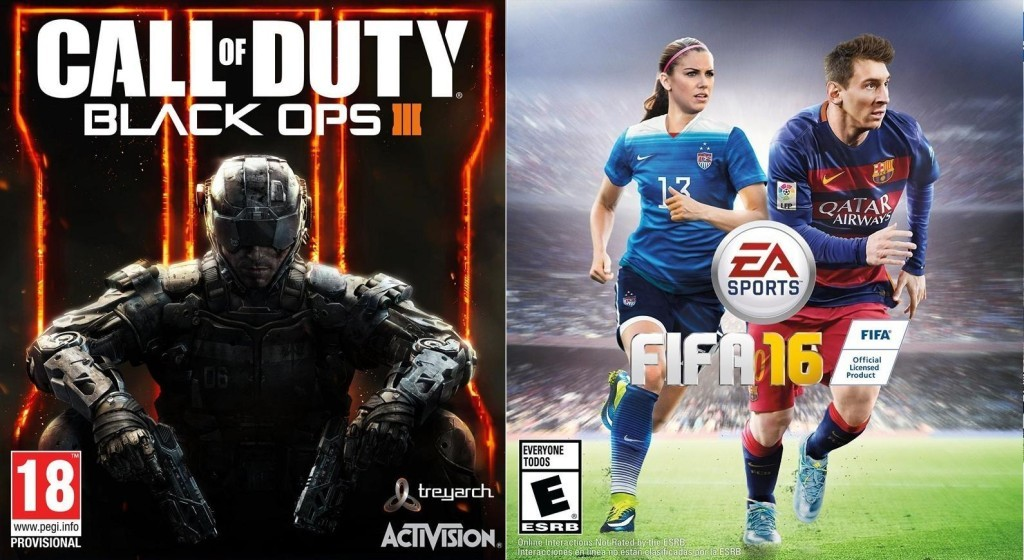 cover Call of Duty BO3 FIFA 16
