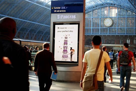 écrans digitaux ville gare