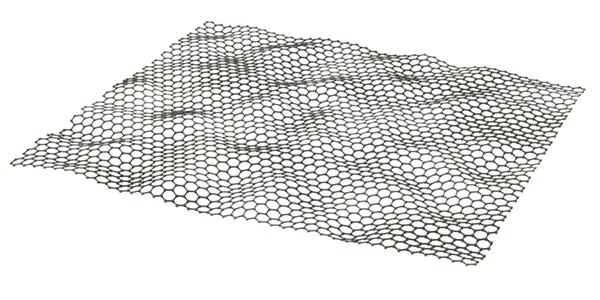 Le graphène prend la forme d'un feuillet en 2D, à la fois très souple et incroyablement solide