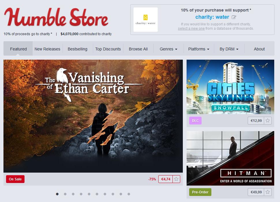 humble bundle store charity