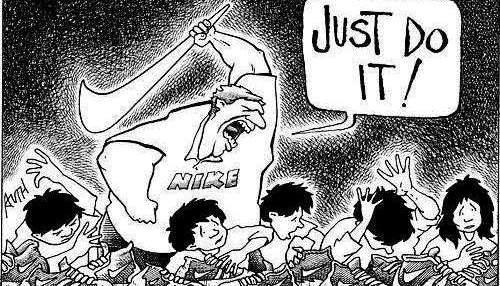 Nike dessin travail des enfants boycott