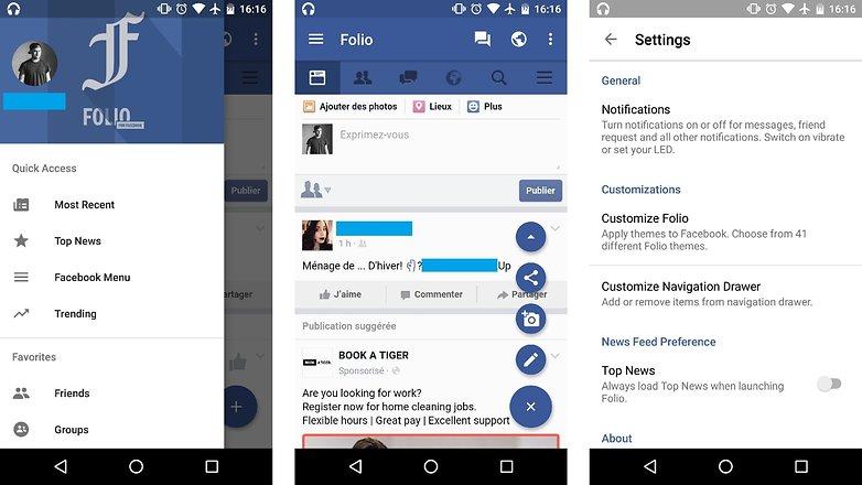 Folio pour facebook