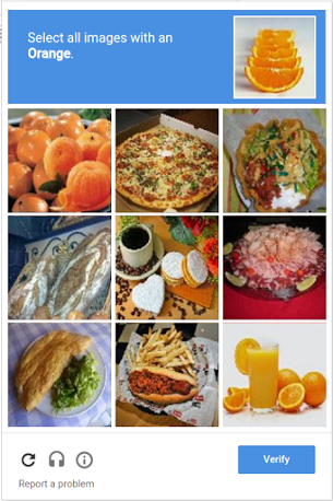 captcha choose picture orange