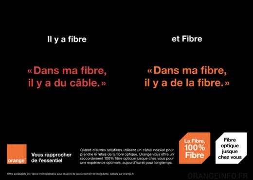 Deux types de fibres