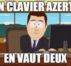 clavier azerty blague meme