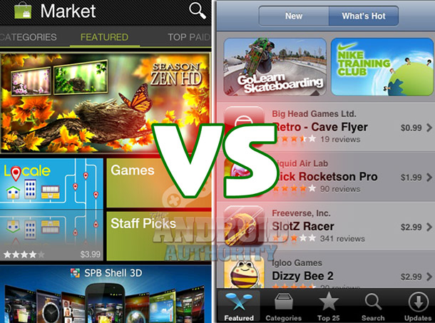 Différences entre les stores iOS & Android