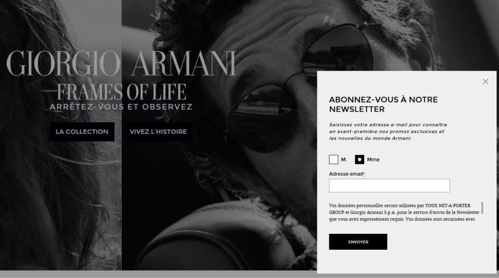 Armani-newsletter