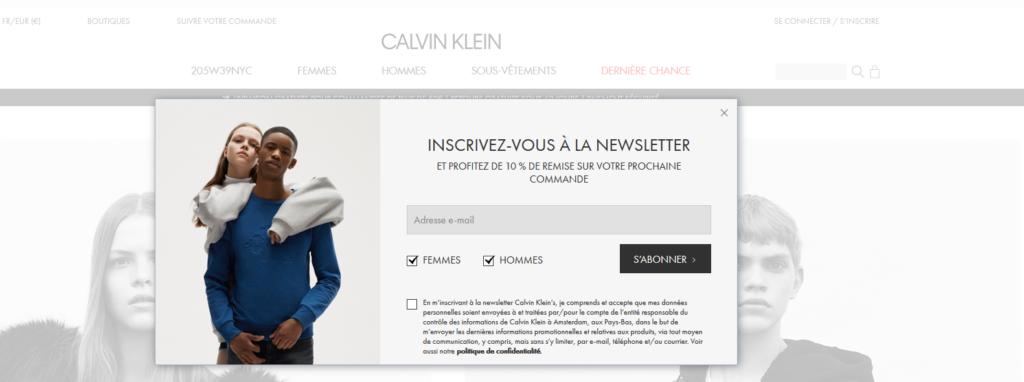 Calvin-Klein-Newsletter