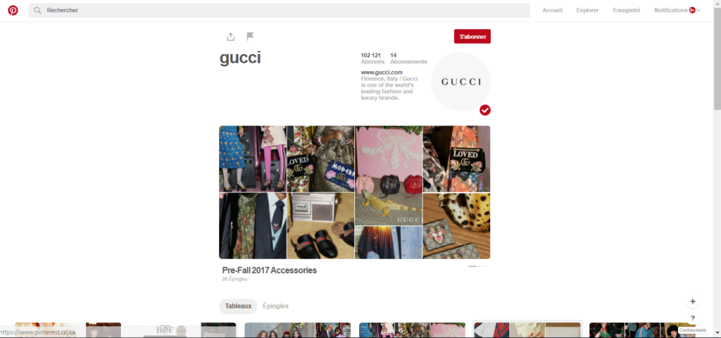 gucci-pinterest-homepage
